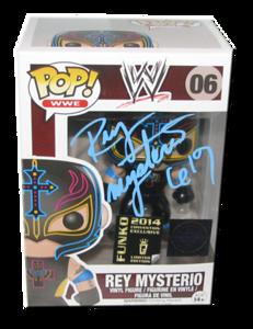 Rey Mysterio Autographed WWE POP! Funko SDCC 2014 Exclusive Vinyl Figure