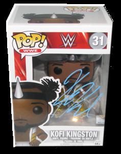 Kofi Kingston Autographed WWE POP! Funko Vinyl Figure