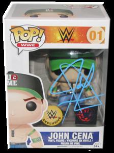 John Cena Autographed (Green Hat) WWE EXCLUSIVE POP! Funko Vinyl Figure