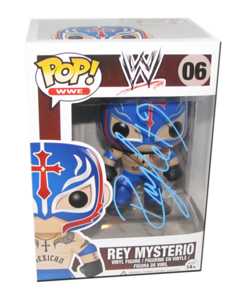 Rey Mysterio Autographed WWE Pop! Funko Vinyl Figure