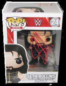 Seth Rollins Autographed WWE POP! Funko Vinyl Figure