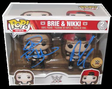 Bella Twins (Brie & Nikki - Black Attire) Autographed WWE EXCLUSIVE Pop! Funko Vinyl Figures