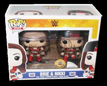 Bella Twins (Brie & Nikki) Autographed WWE EXCLUSIVE Pop! Funko Vinyl Figures