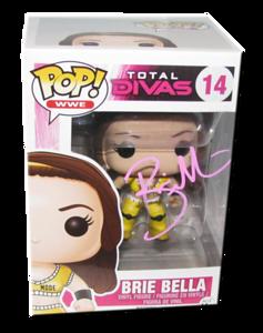 Brie Bella Autographed WWE Pop! Total Divas Funko Vinyl Figure