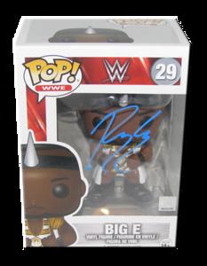 Big E Autographed WWE POP! Funko Vinyl Figure