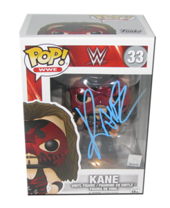 Kane Autographed WWE POP! Funko Vinyl Figure