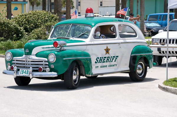 Car Show at St. Augustine Beach, FL on Jun. 14, 2009