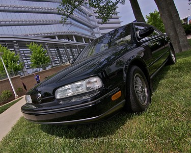 Nissan displayed some recent classics like this Q45.