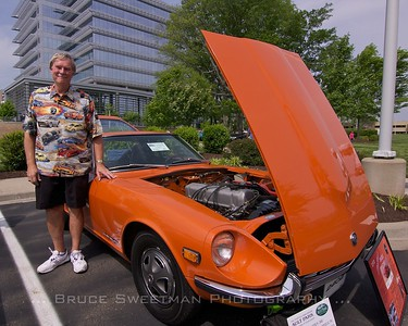 "Bob Speights with his ""Best in Show"" winning 1972 240Z."