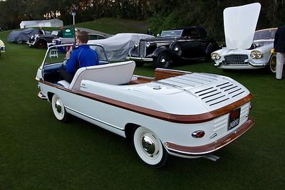 """1956 Fiat Eden Rock The """"Most Audacious Exterior Award"""" winner."""