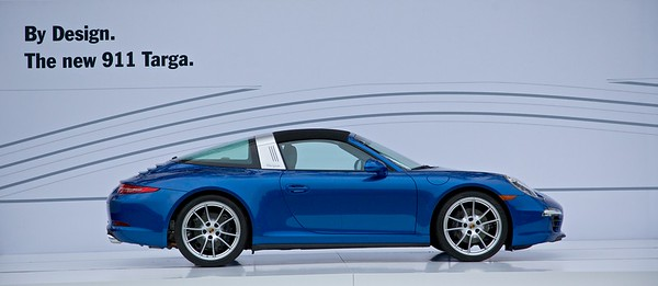 Porsche displayed the new 911 Targa.