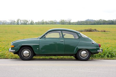 The 1969 Saab 96 was the author's car for the day.