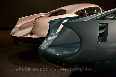 L-R: 1955 BAT 9, 1954 BAT 7
