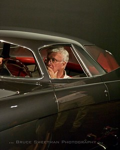 Ken Gross looks pensive in the BAT 5 during load-in.