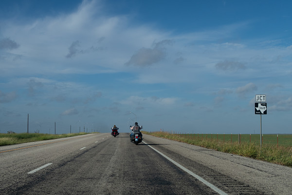 Texas bikers doing the Easy Rider thing.