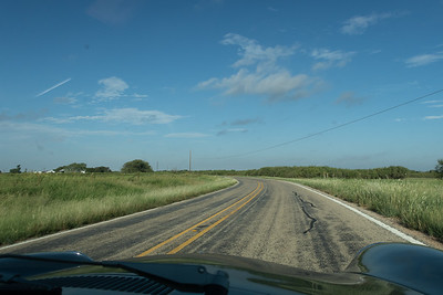 Carving wide arcs across the north Texas countryside.