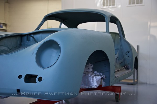 356A Coupe under restoration at European Collectibles.