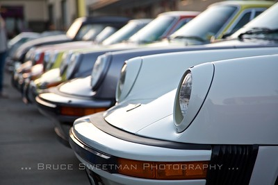 A line-up of Porsches as European Collectibles.