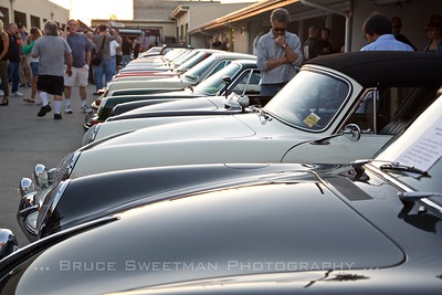 A line-up of Porsches at European Collectibles.
