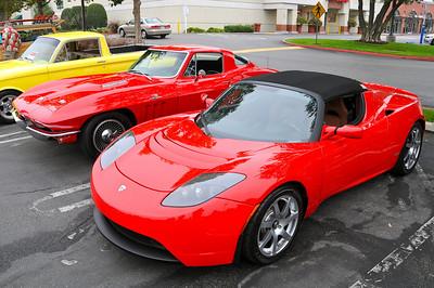 TESLA, modern day Electric Sports Car based on Lotus Elise.