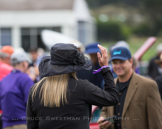 People at the 2017 Pebble Beach Concours d'Elegance