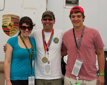Doug Miller w/family at Sebring 12-hour 2012
