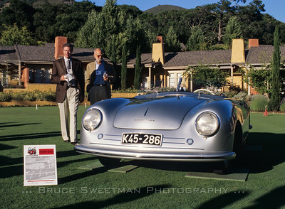 June 2004 - Bob Carlson on left. Porsche 356-001. Carmel, California