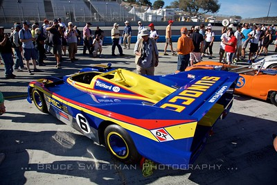 The Sunoco blue 917/30 always draws a crowd.   Saturday Concours