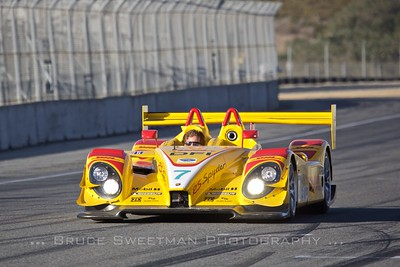 Patrick Long pilots the 2007 RS Spyder during exhibition laps.