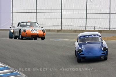 #495 1964 Porsche 356 Les Long #49 1960 Porsche Abarth Carrera GTL Ranson Webster