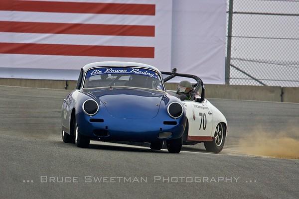 #495 1964 Porsche 356 Les Long #70 1961 Porsche 356B  Ron Goodman