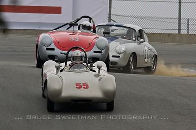 #55 1953 Cooper Porsche Sports Racer Cameron Healy #33 1962 Porsche 356 Tim Baker #20 1964 Porsche 356SC Dave Burton