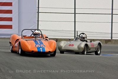 #65 1964 Bobsy-Porsche SR-3 Donald Anderson   #55 1953 Cooper Porsche Sports Racer Cameron Healy