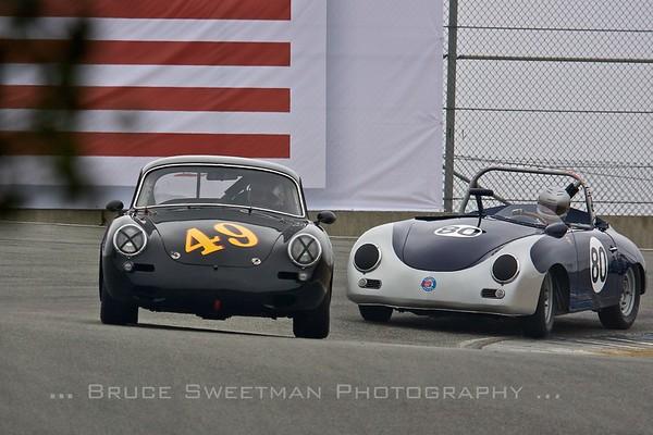 #49 1962 Porsche 356  Edward Hugo #80 1957 Porsche 356  Max Jamiesson