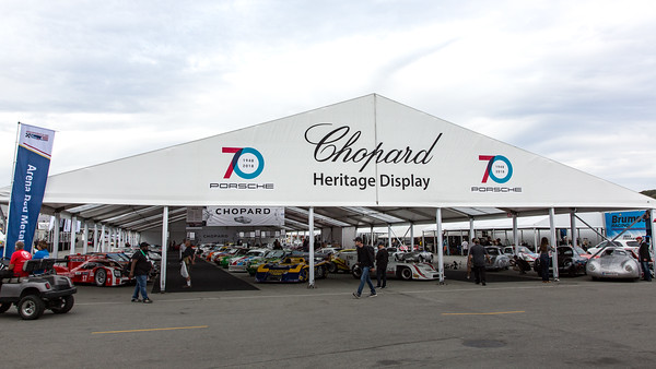 The Chopard Heritage Display housed a Porsche treasure trove of 70 race cars.