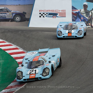 Bruce Canepa  chases Chris MacAllister during Saturday's Werks Trophy race.