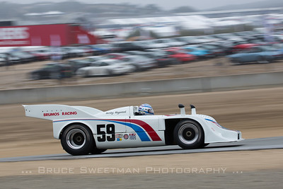 Hurley Haywood shakes down the 917/10 during exhibition laps.