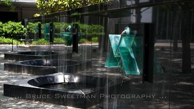 Courtyard fountains.