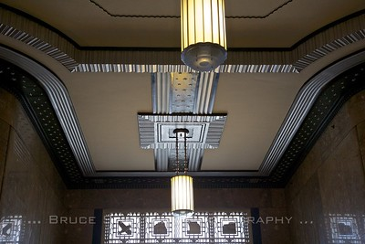 Frist lobby ceiling detail.