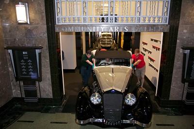 1939 Delage D8-120 Saoutchik Cabriolet Classics filled the hallway.