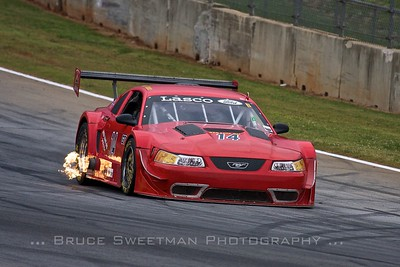 A 2000 Mustang Trans Am brakes for turn 10A.