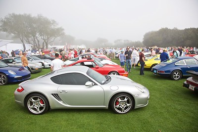 Shiny cars are socked in at Saturday's Cars & Coffee.