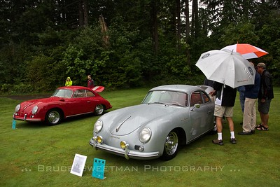 L - R:  1957 Carrera Coupe - Steve Terrien, 1959 Carrera GS Coupe - Chip Perry