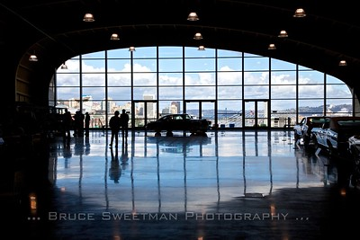 The main floor of the LeMay faces overlooks downtown Tacoma.