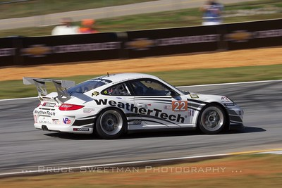 The Alex Job Racing GTC-class 911 GT3 Cup Porsche.
