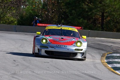 The #45 Flying Lizard Motorsports Porsche 911 GT3 RSR.