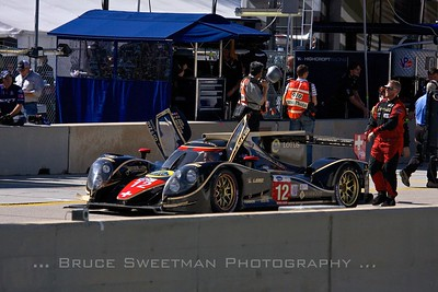 The (P1) Rebellion Racing Lola B12/60 prepares to take to the track.