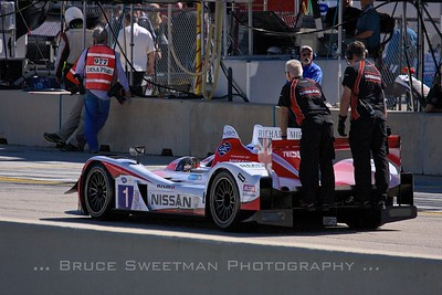 The (P2) Greaves Motorsports Zyteck Z11SN is wheeled down pit lane prior to qualifying.