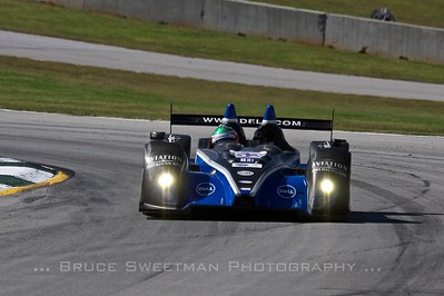 The (PC) Mathiason Motorsports Oreca FLM09 carves turn 12 during qualifying.