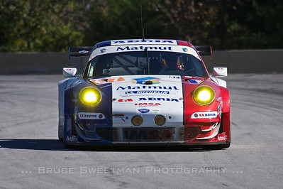 The #67 IMSA Performance Matmut Porsche 911 GT3 RSR.